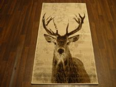 NEW Approx 5x3 80x150cm Woven Top Quality Winter Stag  Beige/Cream Rugs/Mats